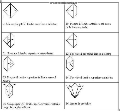 schema coniglio origami 2