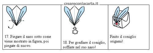 schema coniglio origami 3