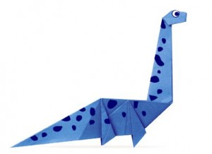 dinosauro origami
