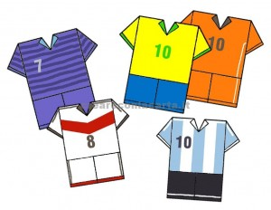 maglia calcio origami