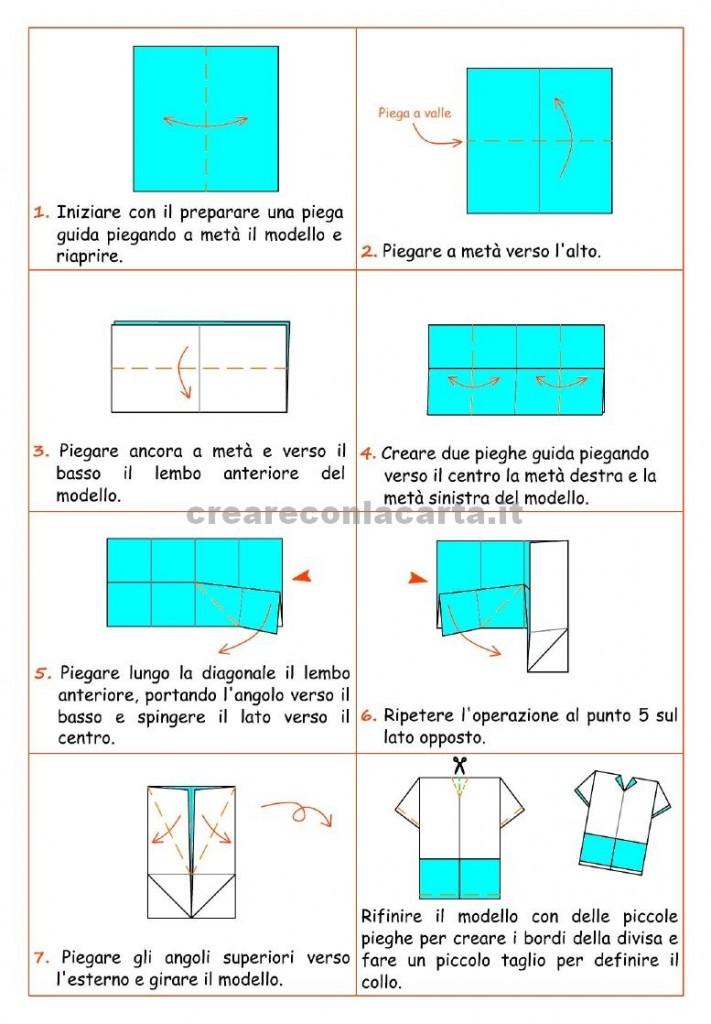 schema maglia calcio origami