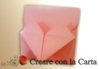 busta cuore origami