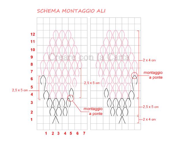 Fenicottero origami 3d Schema5