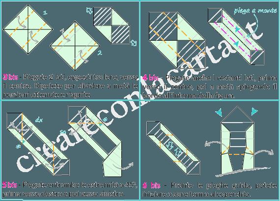 origami scatola con coperchio parte 2