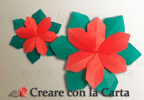 Stella Di Natale Di Carta Da Costruire.Stella Di Natale Con La Tecnica Origami Modulare