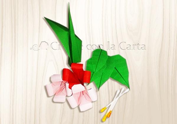 Bouquet di Fiori Origami pezzi