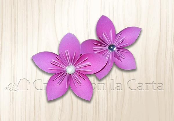 fiore 5 petali kusudama completo