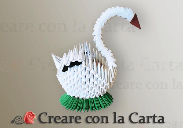 Cigno Origami 3d 2