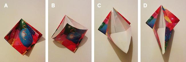Dettaglio passaggi dal 3 al 5 - Pulcino Origami