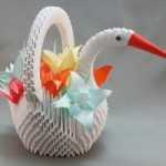 cigno origami 3d