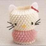 hello kitty origami 3d fase4