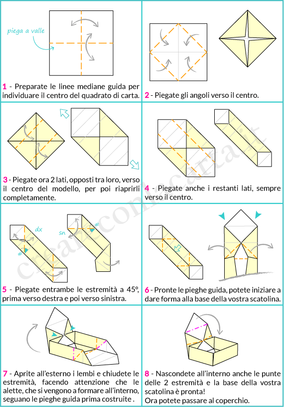 spesso Crea l'origami scatola con coperchio - Creare con la carta BS46